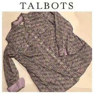 ✳️ Talbots Flowery Blouse